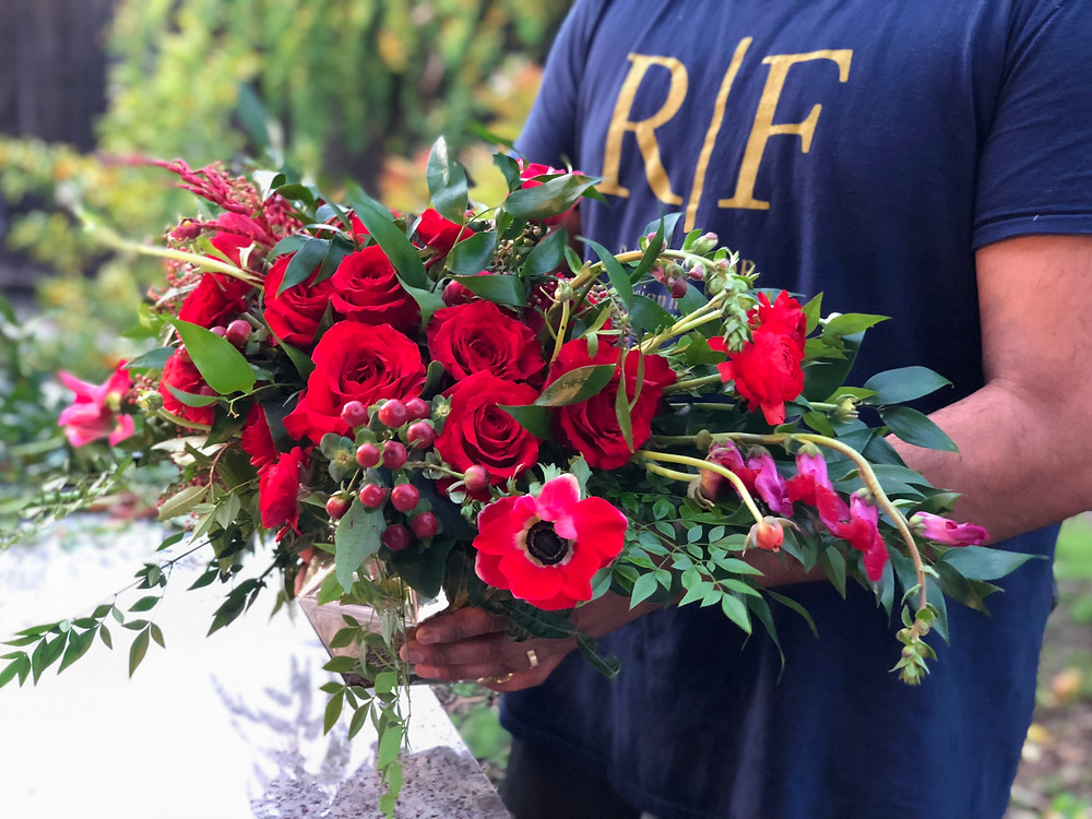 Rao Factor's Valentine's Bouquet featuring the Anemone