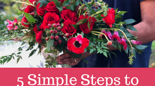 5 Simple Steps to Create a Bouquet at Home!