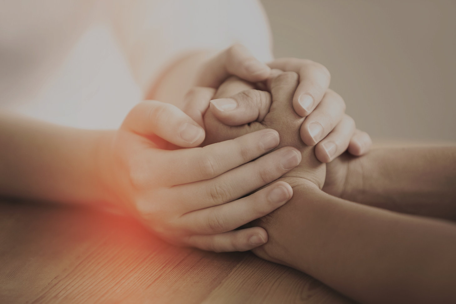 handen vasthouden