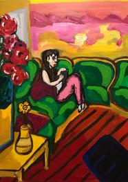 Ana no duerme - Acrílico sobre tela -50 x 70 cm - 2019.
