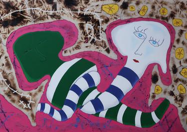 Metamorfosis de la Copulación -Acrílico sobre lienzo.  150 x 90 cm. - 2020.
