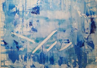 Alma con Curitas - Acrílico sobre tela - 150 x 130 cm.