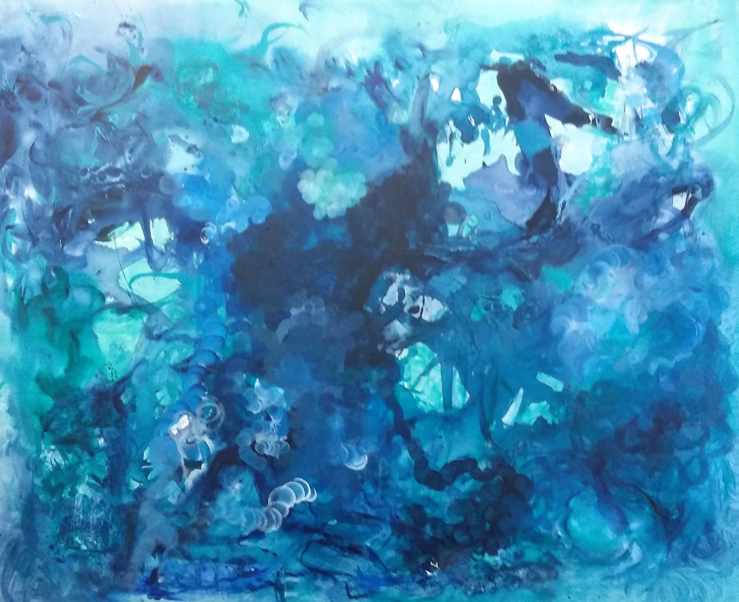 Oceánica- Pintura sobre tela- 80 x 100 cm.- 2018.