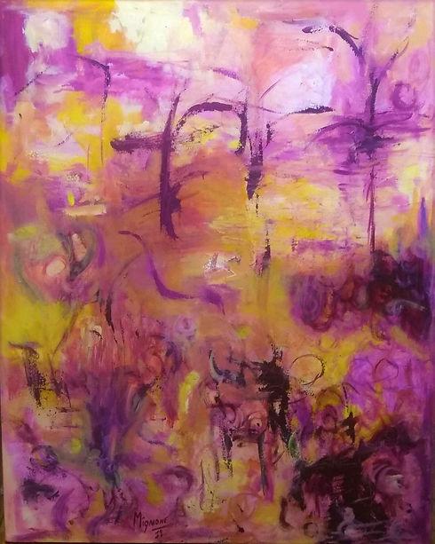 Obra Spring Pintura Abstracta 80x100 Bas