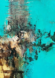 Ocean 2 -50 x 50 cm - Técnica mixta sobre tela - 2019.