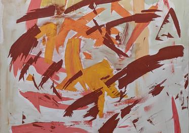 Remolino Otoñal - Técnica mixta sobre tela - 100 x 100 cm.