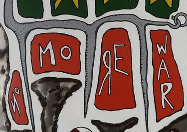 No More War - Acrílico sobre madera - 55 x 34 cm. - 2020