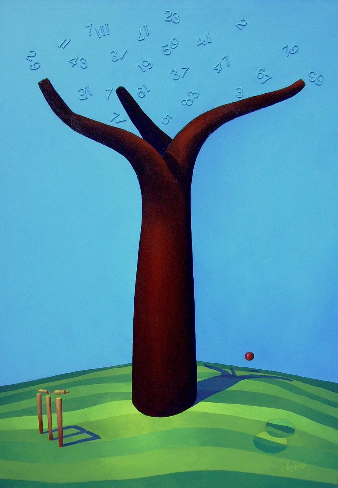 Árbol Primo -Técnica mixta sobre tela -100 x 70 cm.- 2015.