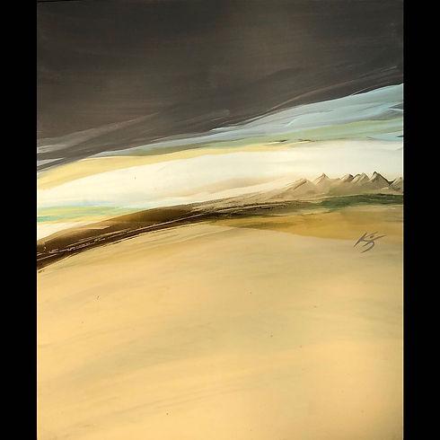 Alta Meseta del Desierto Acril s tela 10