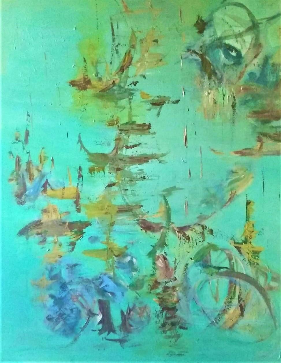 Oriente-Pintura sobre tela- 80 x 100 cm.-2019.