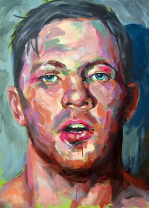 Boxeador - Acrílico sobre tela - 100 x 140 cm - 2014.