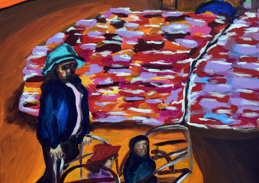 Pumamarca - Acrílico sobre tela - 50 x 70 cm - 2020.