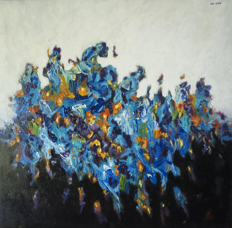 Abstracto negro y azul