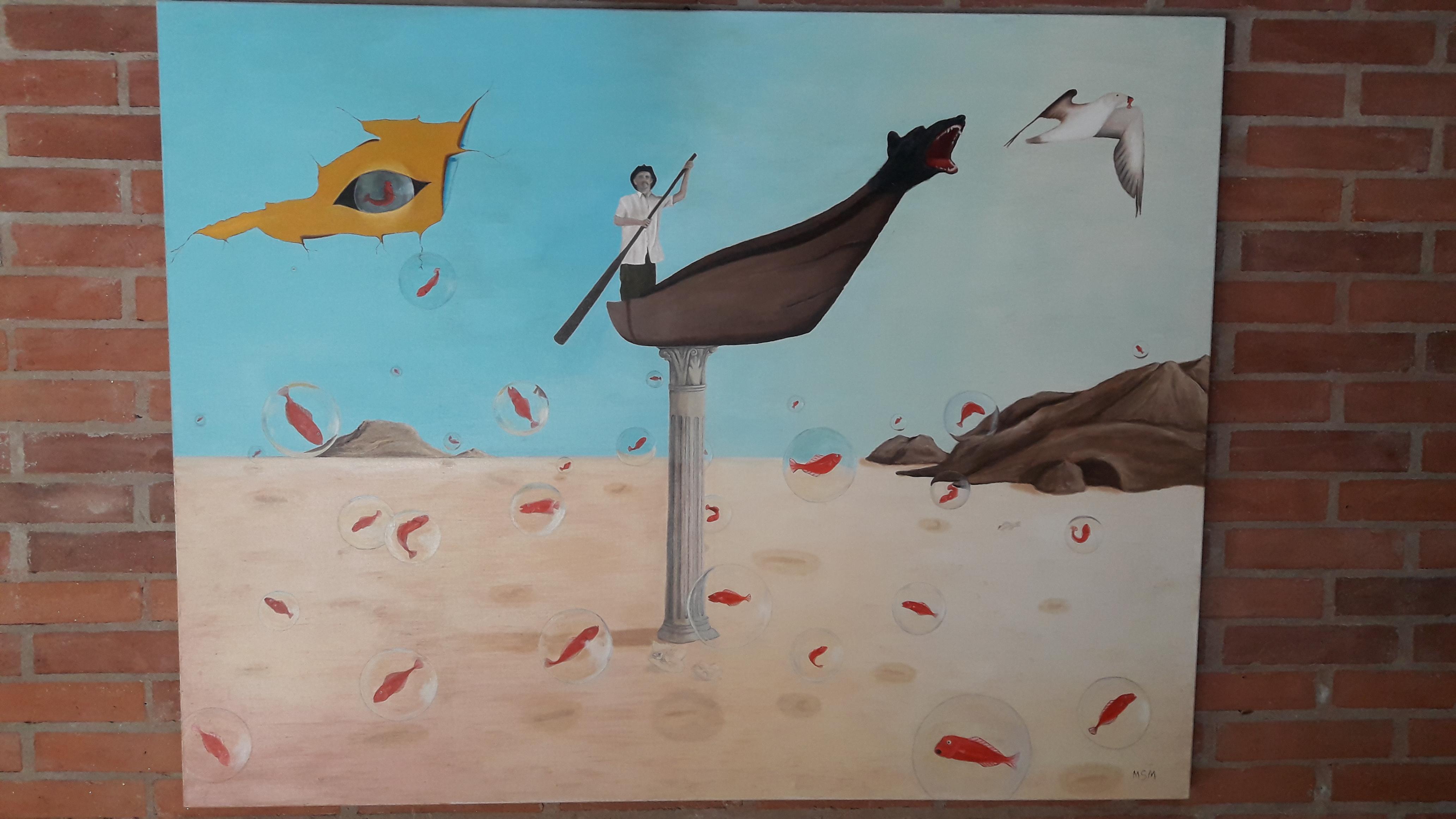 El pescador- Óleo sobre tela- 140 x 100 cm.
