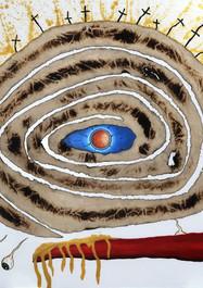 L.S.D (Lo Sabe Dios) - Acrílico sobre lienzo -100 x 89 cm - 2020.