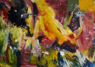 Abstracto de color - Acrílico sobre tela - 145 x 93 cm.