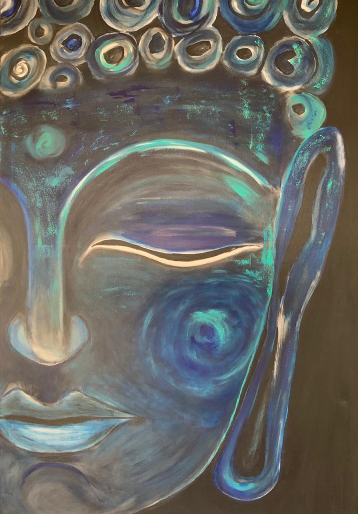 Azul profundo Acrilico 80 x 120 cm