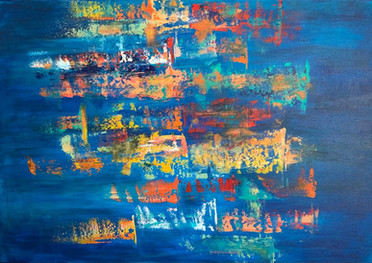 Color dance - Acrílico sobre tela - 70 x 100 cm - 2021.