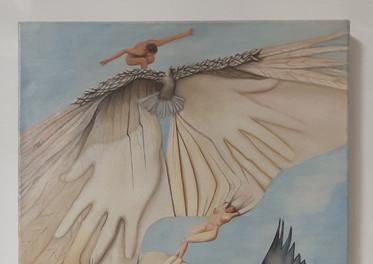 El vuelo de la Paloma -Óleo sobre tela- 80 x 50 cm.