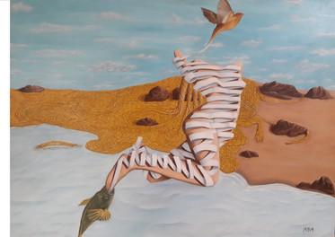 Mujer- Óleo sobre tela- 70 x 60 cm.
