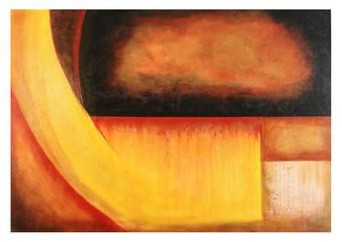 Sol y Sangre sobre Tenochtitlán- Técnica mixta  - 100 x 70 cm - 2020.