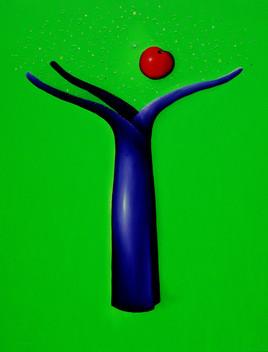 Sengupta Tree- Técnica mixta sobre tela -150 x 120 cm.- 2006.