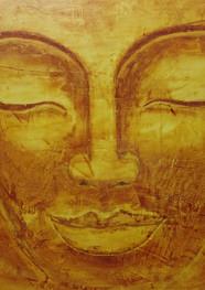 Golden Budha - 100 x 130 cm - Acrílico sobre tela - 2020.