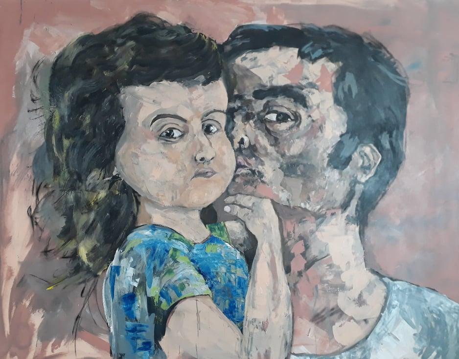 Selfie padre e hija