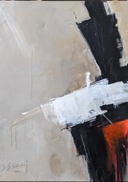 Destello 2 - Técnica mixta sobre tela  -100 x 100 cm -2018.