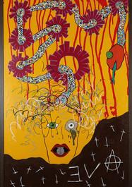 La Anarquía de Eva -Acrílico sobre madera - 150 x 86 cm - 2019.