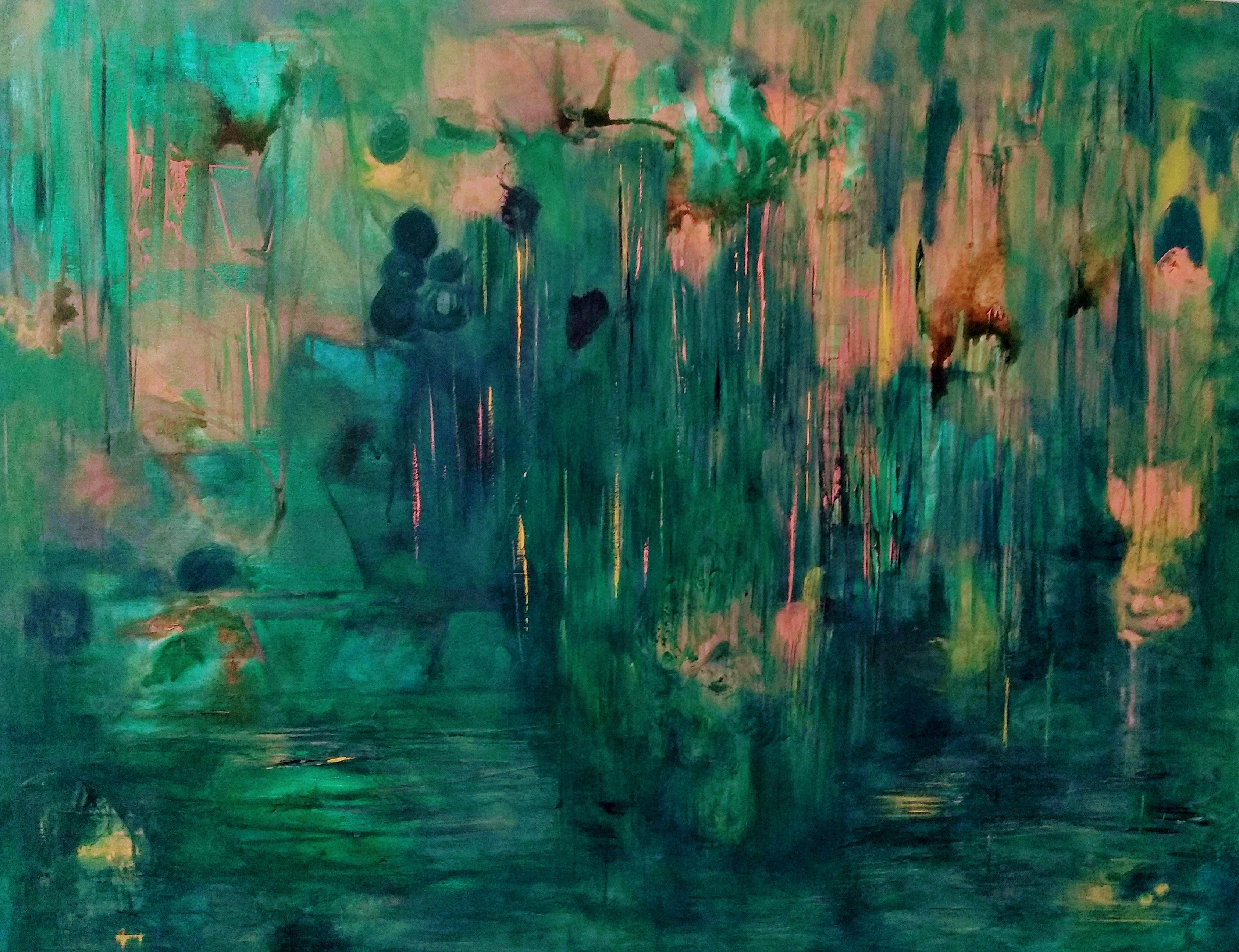 Amazónica- Pintura sobre tela- 80 x 100 cm.-2020.