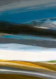 Patagonia Tormenta (Blues) Acrílico sobre tela - 160 x 80 cm - 2015.