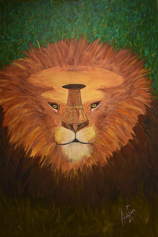Lion guitar