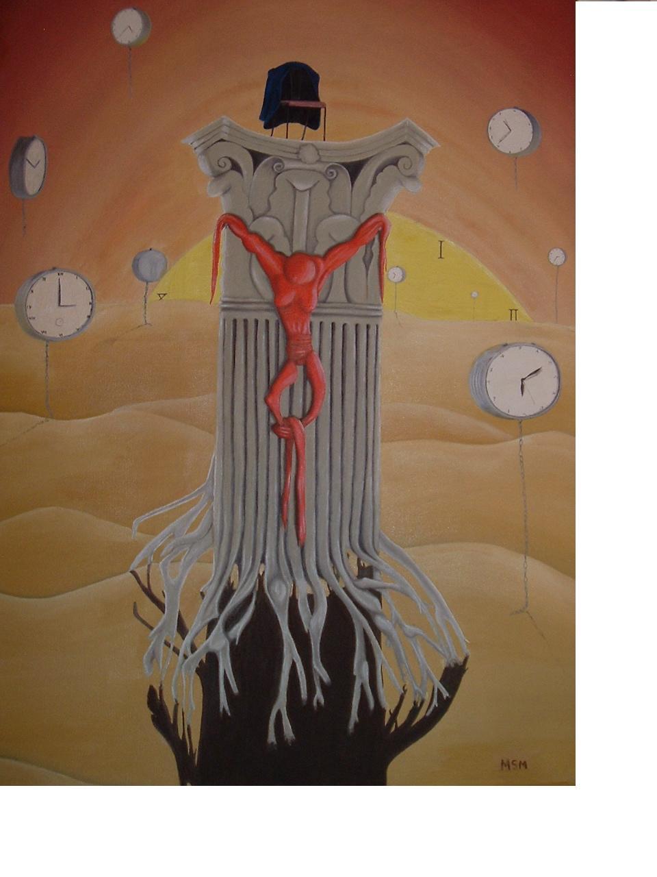 Burgocracia- Óleo sobre tela- 50 x 70 cm.