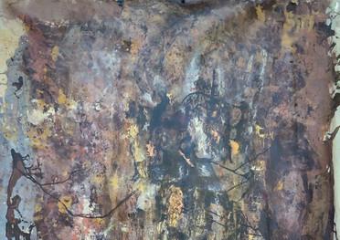 Tierra - Acrilico sobre tela - 110 x 140 cm. -2020.
