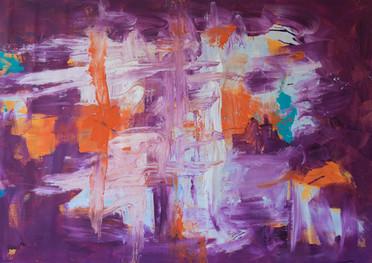 Reflejos de tigre - Acrílico sobre tela - 81 x 110 cm.