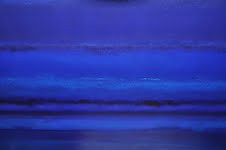 Azul profundo - 100 x 100 cm - Técnica mixta sobre tela - 2015.