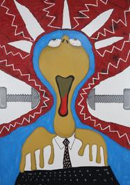 Modern Crucifixion - Acrílico sobre lienzo -120 x 80 cm- 2020