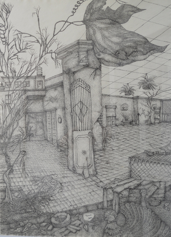 El patio....
