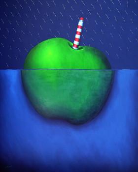 Mar de la lluvia- Técnica mixta sobre tela- 150 x 120 cm.- 2009.