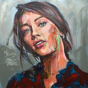 Marianne - Acrílico sobre tela - 100 x 100 cm - 2014.