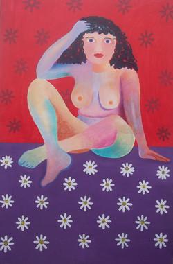 Mujer con margaritas