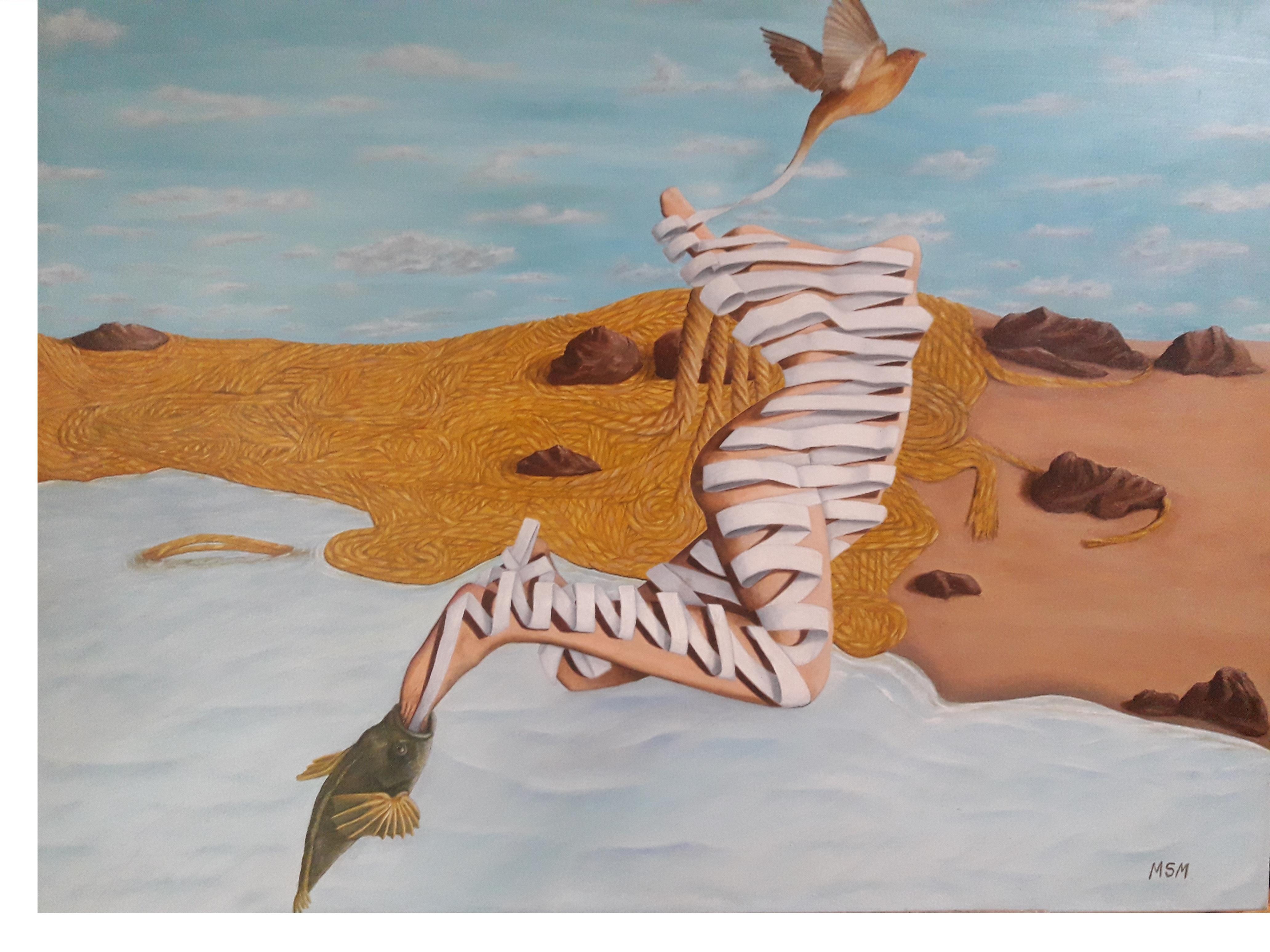 Mujer- Oleo sobre tela- 70 x 60 cm.