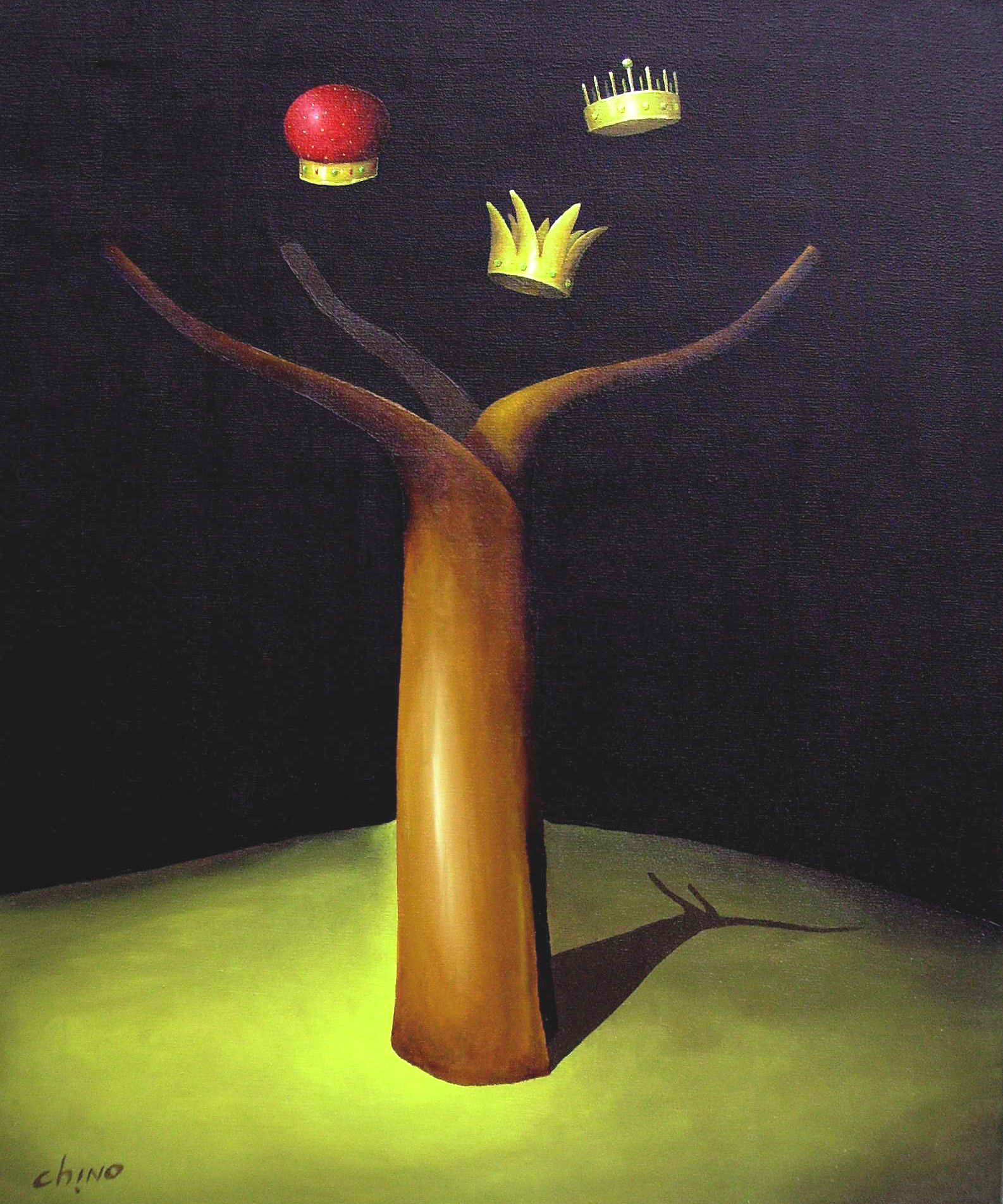 Árbol Real -Acrílico sobre tela -60 x 50 cm.- 2008.