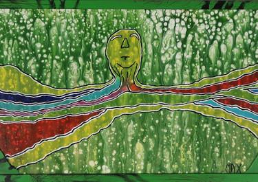 Light - Acrílico sobre madera. 146 x 38 cm. - 2019