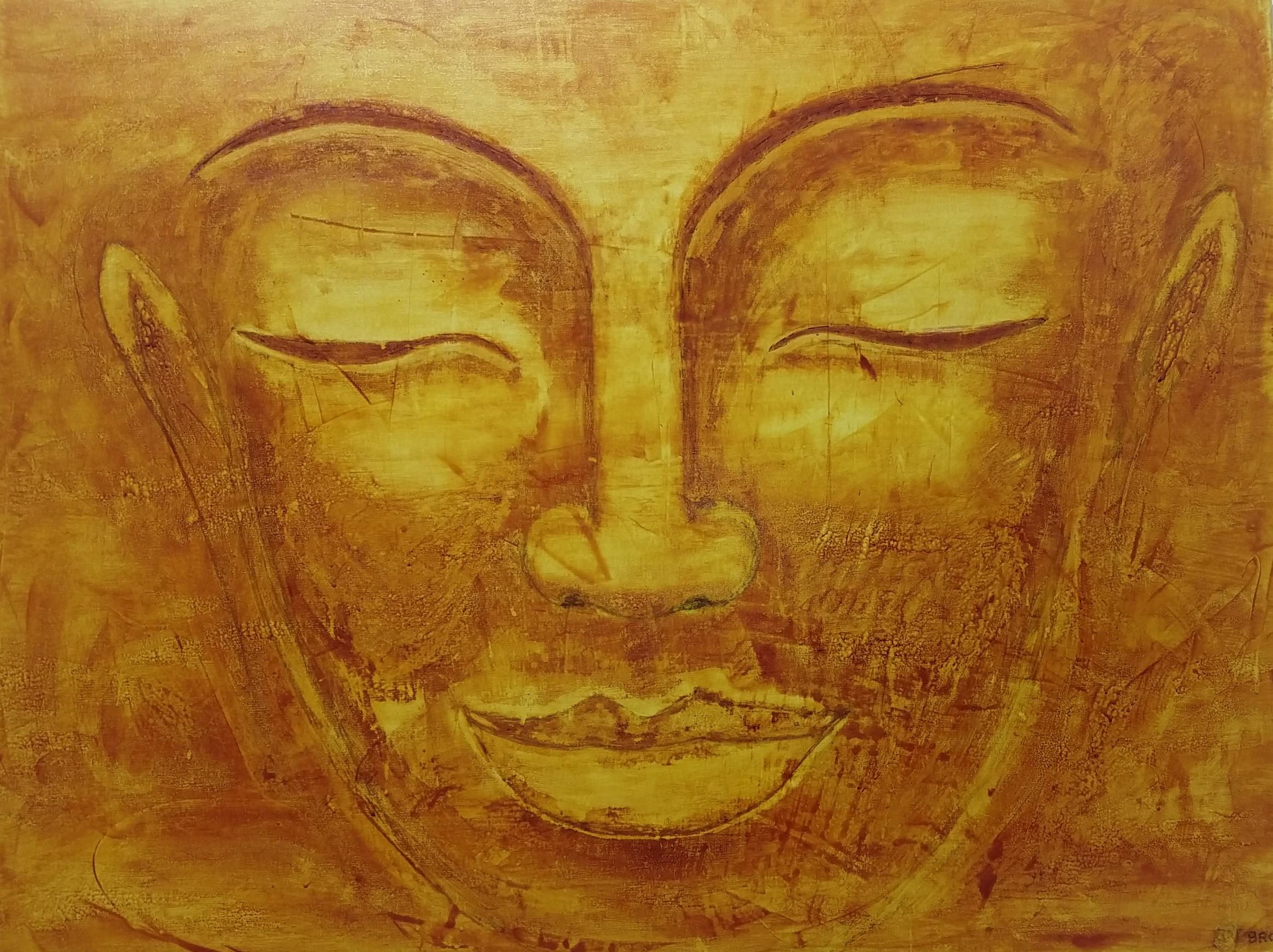 Golden Budha 100 x 130 cm tec mixta