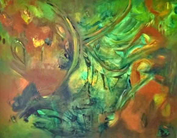 Magia- Pintura sobre tela- 80 x 100 cm.-2019.