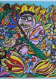 Selva - 100 x 100 cm -  Acrílico Sobre tela