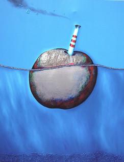 Mare Cognitum -Técnica mixta sobre tela -150 x 120 cm.- 2008.