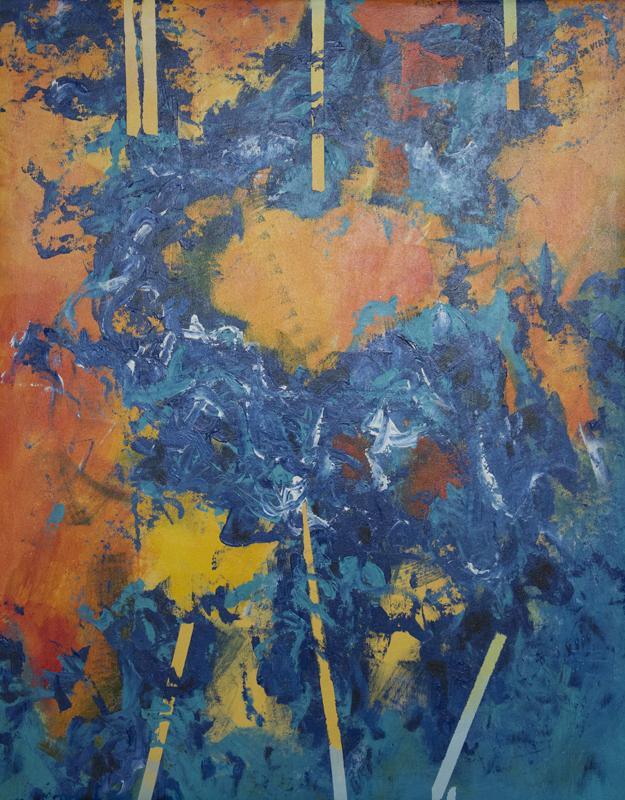 Abstracto de fondo naranja I